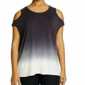 Lysse Cold Shoulder Blouse Size 1X NWT